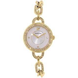 Swarovski elements Women's 1124151 'Aila' Crystal Gold-Tone Stainless Steel Watch - silver