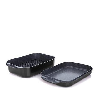 Curtis Stone DuraPan Nonstick Double-Sided Roaster Set(Refurbished)