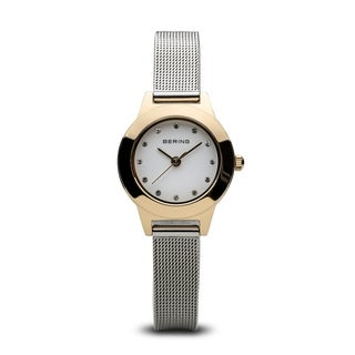 Bering Women's 11125-010 'Classic' Crystal Stainless Steel Watch - WHITE - N/A