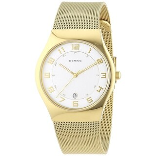 Bering Women's 11937-334 'Classic' Gold-Tone Stainless Steel Watch - WHITE - N/A