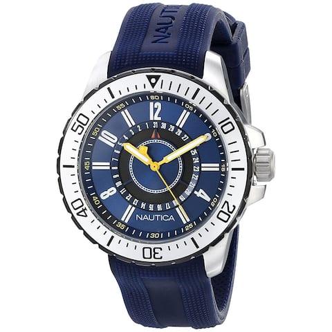 Nautica Unisex N14664G 'NST' Blue Silicone Watch