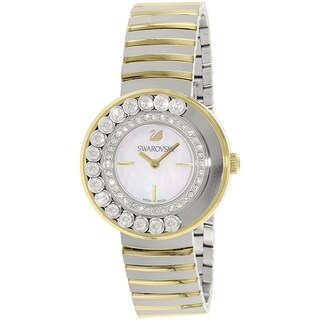 Swarovski elements Women's 1187022 'Lovely' Crystal Two-Tone Stainless Steel Watch - silver