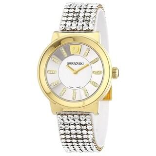 Swarovski elements Women's 1000670 'Piazza' Crystal Stainless Steel Watch - silver