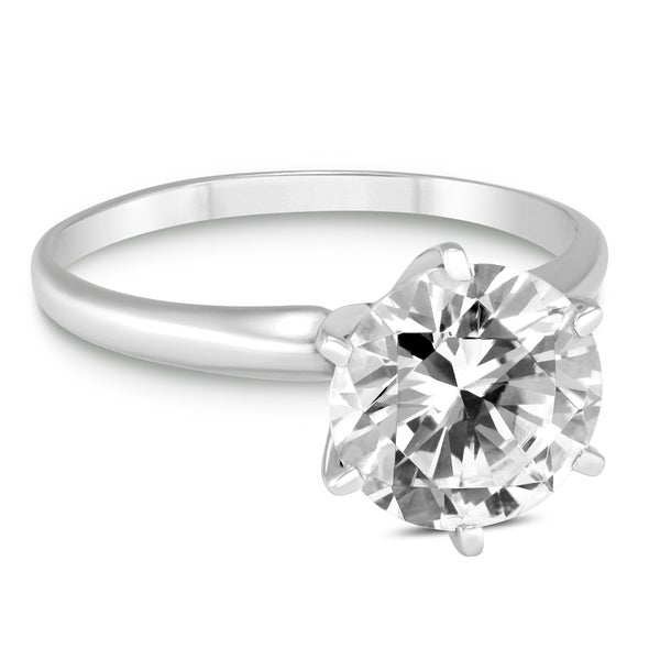 Shop PREMIUM QUALITY - 1 1 2 Carat Diamond Solitaire Ring in 14K White Gold  (E-F Color 5f4524766398