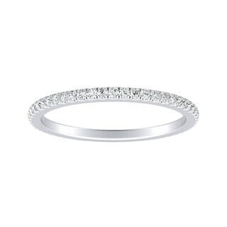 Auriya 18k Gold 1/5ct TDW Round Stackable Diamond Wedding Band