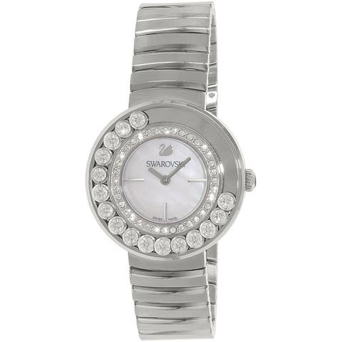 Swarovski Women's 1160307 'Lovely' Crystal Stainless Steel Watch - Mother of Pearl