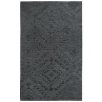 Rizzy Home Fifth Avenue Dark Grey Diamond Handmade Wool Area Rug - 8' x 10'