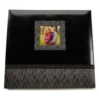Darice Memories 12x12 Black Glitter Leather Book Binder Scrapbook Album
