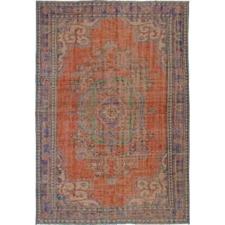 eCarpetGallery Hand-knotted Anadol Vintage Dark Copper Wool Rug - 6'3 x 9'0