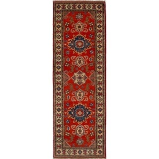 eCarpetGallery Hand-knotted Finest Gazni Red Wool Rug - 2'0 x 6'2