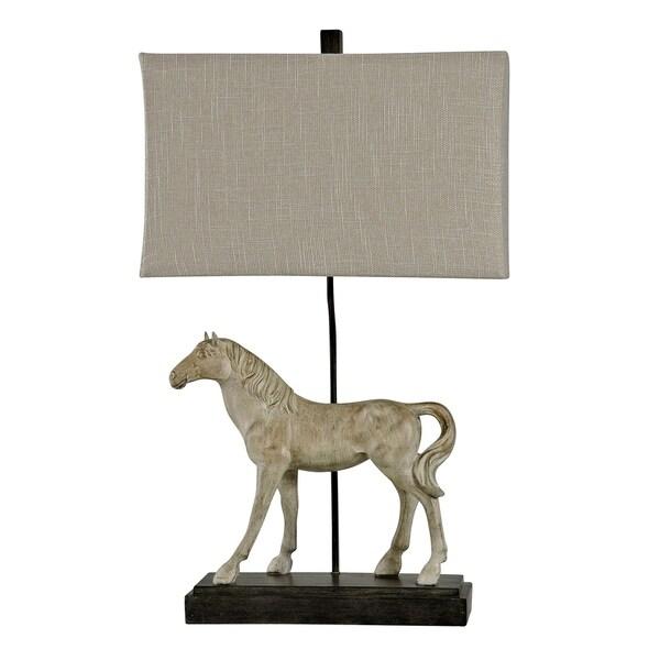 Dapple Gray Table Lamp - Natural Linen Softback Fabric Shade