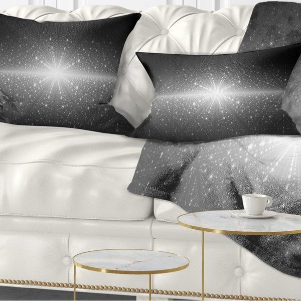 Designart 'Stardust and Bright Shining Stars' Abstract Throw Pillow