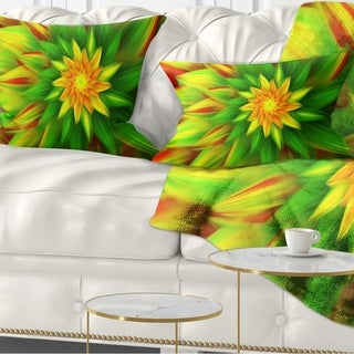 Link to Designart 'Amazing Dance of Green Petals' Floral Throw Pillow Similar Items in Decorative Accessories