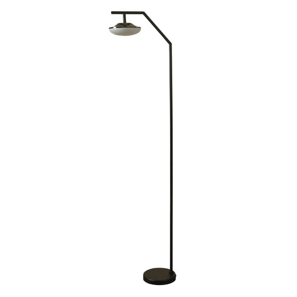 Moon Beam Black Floor Lamp - White Shade