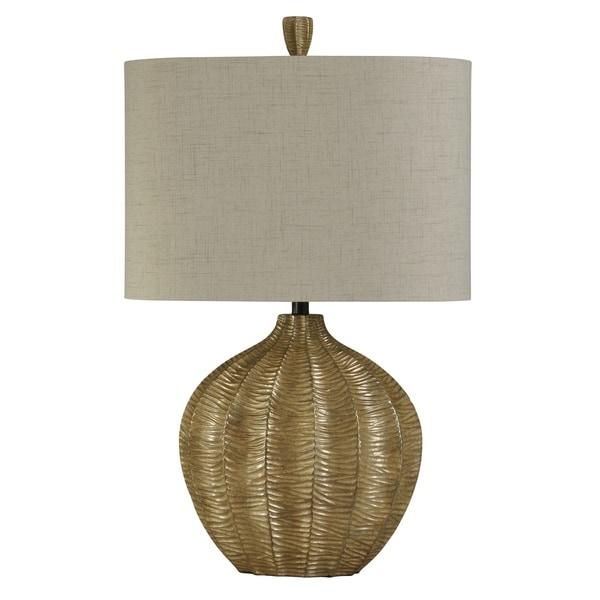 StyleCraft Contemporary Georgian Silver Table Lamp - Natural Linen Hardback Fabric Shade