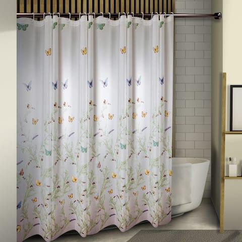 """InStyleDesign Butterflies Shower Curtain 71"""" x 71"""""""