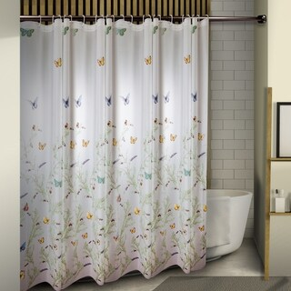 "InStyleDesign Butterflies Shower Curtain 71"" x 71"" - multi butterflies"