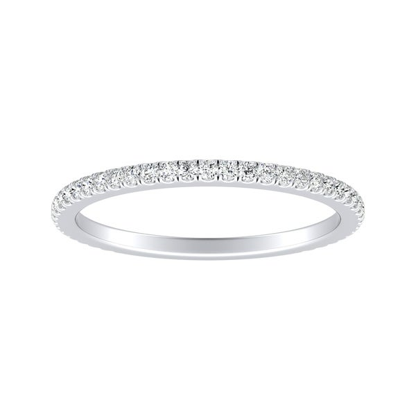 14k Gold 1/5ct TDW Round Stackable Diamond Wedding Band by Auriya