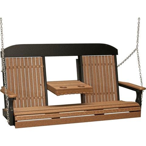 5' Highback Swing in Natural Colors - Recycled Plastic-