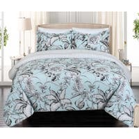Nouvelle Home Sketch Floral Reversible Cotton Comforter Set