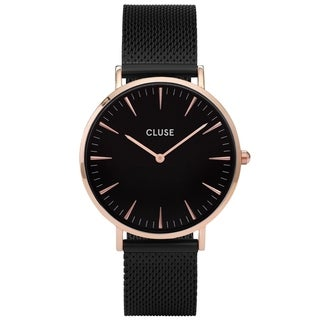 Cluse Women's CL18034 'La Boheme' Black Stainless Steel Watch - N/A