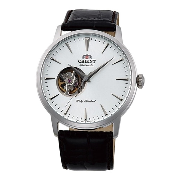 a4425a48568 Shop Orient Men s FAG02005W0  Esteem II  Open Heart Automatic Black Leather  Watch - White - N A - Free Shipping Today - Overstock - 20954856