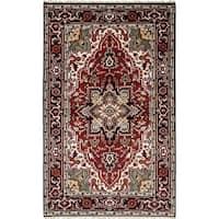 eCarpetGallery  Hand-knotted Royal Heriz Dark Red Wool Rug (5'1 x 8'1) - 5'1 x 8'1