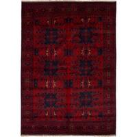 eCarpetGallery Hand-knotted Finest Khal Mohammadi Red Wool Rug - 6'7 x 9'5