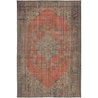 eCarpetGallery Hand-knotted Anadol Vintage Dark Copper Wool Rug - 6'0 x 9'3