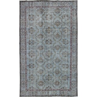 eCarpetGallery Hand-knotted Color Transition Light Blue Wool Rug - 5'10 x 9'9