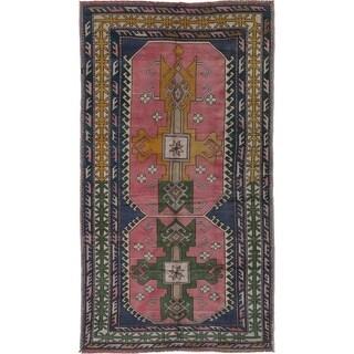 eCarpetGallery Hand-knotted Anadol Vintage Pink Wool Rug - 4'6 x 8'3