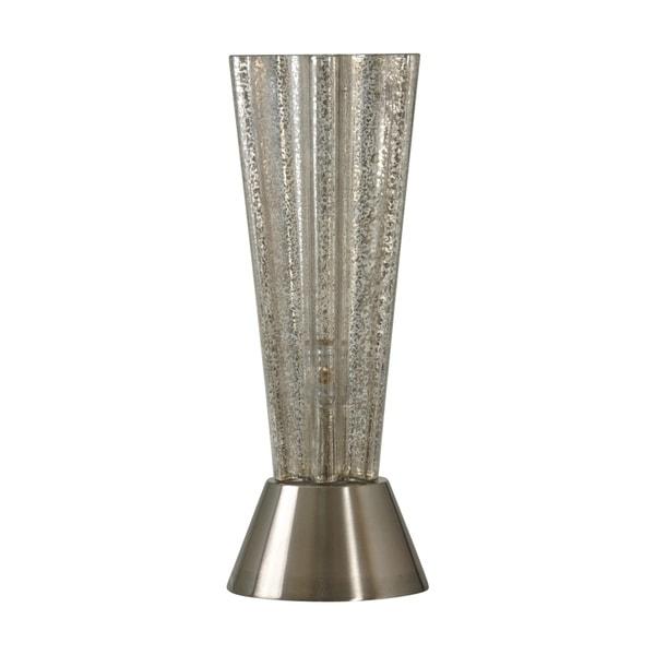 StyleCraft Northbay Mercury Table Lamp - Silver Glass Shade