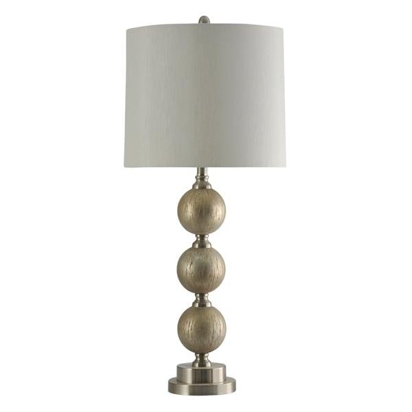 Elura Sliver Table Lamp - White Hardback Fabric Shade