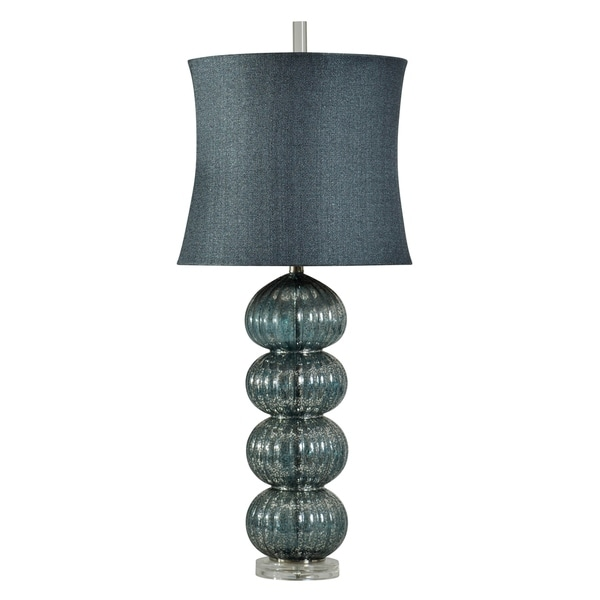 Jalo Dark Blue Table Lamp - Jalo Softback Fabric Shade