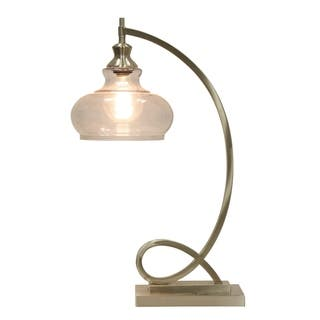 Grey Glass Table Lamps For Less Overstock