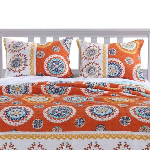Barefoot Bungalow Rozario Tangerine Pillow Sham Set (Set of Two Shams)