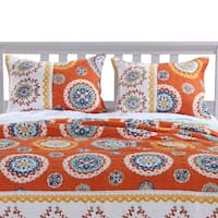 Barefoot Bungalow Rozario Tangerine Pillow Sham Set (Set of Two Shams)