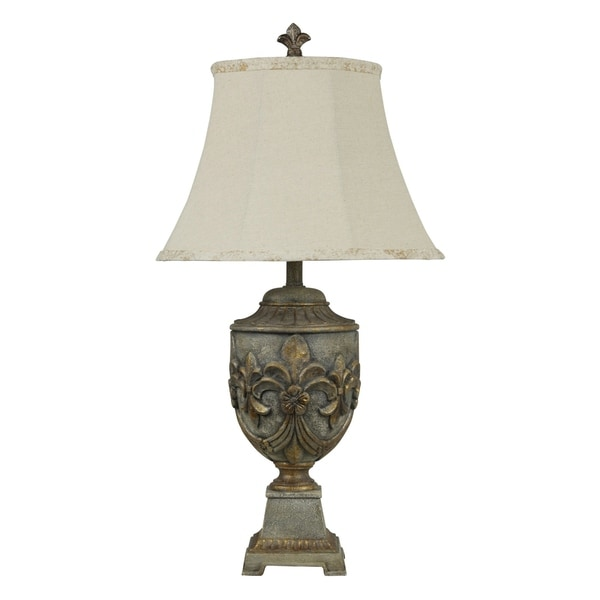 Versailles Gold Table Lamp - White Softback Fabric Shade