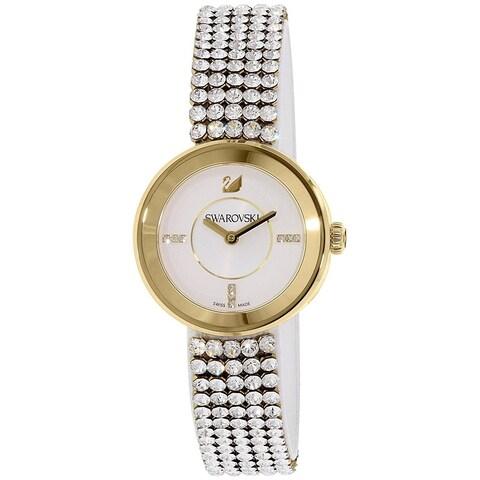 Swarovski elements Women's 'Piazza Mini' Crystal Stainless Steel Watch - silver