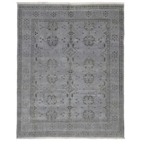 Fine Rug Collection Traditional Grey Wool Handmade Fine Oushak Turkish Knot Oriental Rug - 8' x 9'10