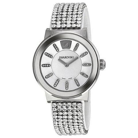 Swarovski Men's 1094348 'Piazza' Crystal Stainless Steel Watch - silver