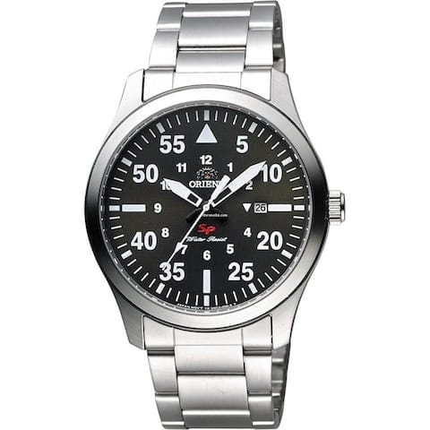 Orient Men's FUNG2001B0 'Flight' Date Stainless Steel Watch - black