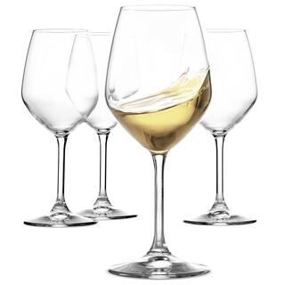 56a3f6f6e3e Italian White Wine Glasses - 15 Ounce - Lead Free - Shatter Resistant - Wine  Glass
