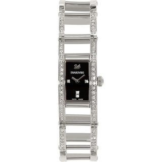 Swarovski Women's 1186075 'Indira' Crystal Stainless Steel Watch - black - N/A