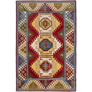 eCarpetGallery  Hand-knotted Royal Kazak Red Wool Rug (6'6 x 9'10) - 6'6 x 9'10