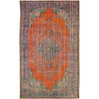 eCarpetGallery Hand-knotted Anadol Vintage Orange Wool Rug - 6'0 x 10'0