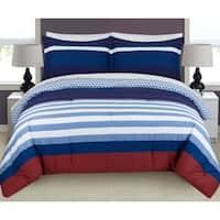 Nouvelle Home Nautical Stripe Reversible Cotton Comforter Set