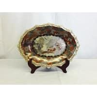 Satsuma Inspired Scalloped Porcelain Plate