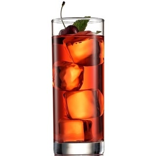 Italian Highball Glasses 6pc Clear Heavy Base Tall Bar Drinking Glass for Water, Juice, Beer, Wine, Whiskey and Cocktails 13 Oz.. Opens flyout.