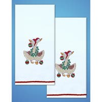 """Tobin Stamped For Embroidery Kitchen Towels 18""""X28"""" 2/Pkg"""